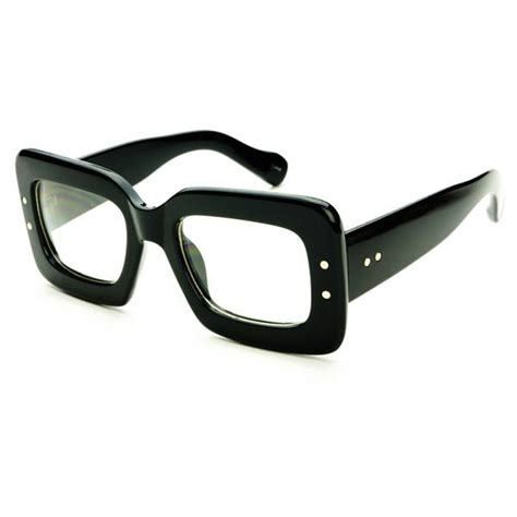 unique square frame retro vintage style clear lens eye