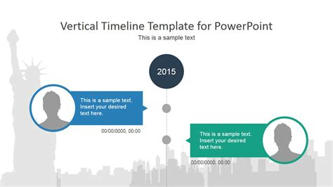 vertical template vertical timeline powerpoint template slidemodel