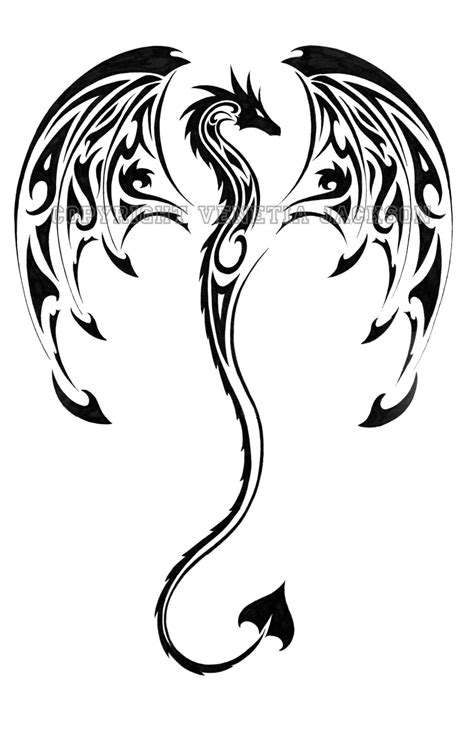 dragon tribal tattoo design dragons tribal on tribal tattoos