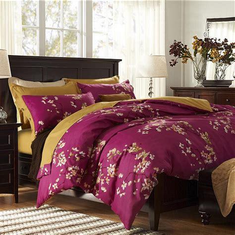 Purple Bed Sets King Size 2015 New Purple Flower Bedding Set 4pcs Cotton Bed Linen Sets King Size Quilt Duvet Jpg