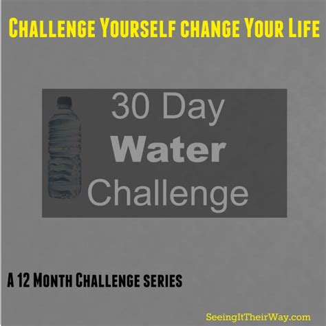 benefits of 30 day challenge 30 day water challenge seeing it their way