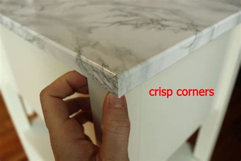 diy marble contact paper crisp corners home decorating