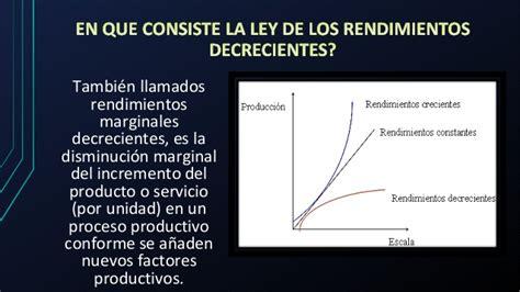 la ley de los ley de los rendimientos decrecientes