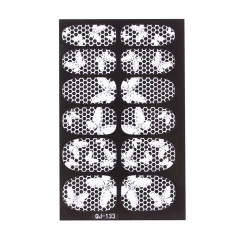 Ho510101 3d White Lace Nail Stickers buy 12pcs pack fashion designs 3d white lace nail