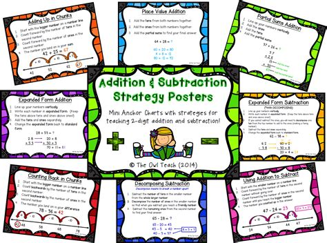 addition and subtraction strategies grade 2 1000 ideas