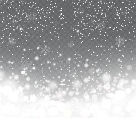 falling snowflake lights falling with snowflakes on transparent background