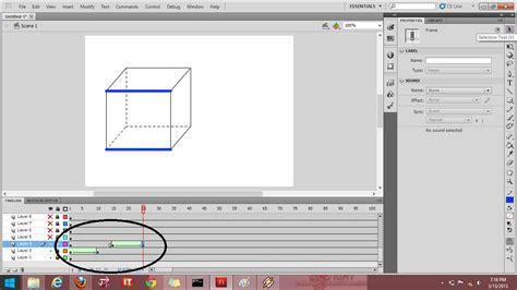 cara membuat gambar bergerak menggunakan adobe flash membuat animasi rusuk kubus menggunakan adobe flash