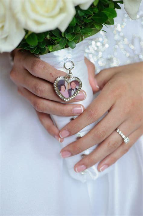 wedding bouquet charm bridal keepsake personalized
