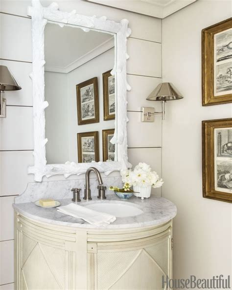 Classic Powder Room How A Generic 80s Home Got A Wine Country Makeover