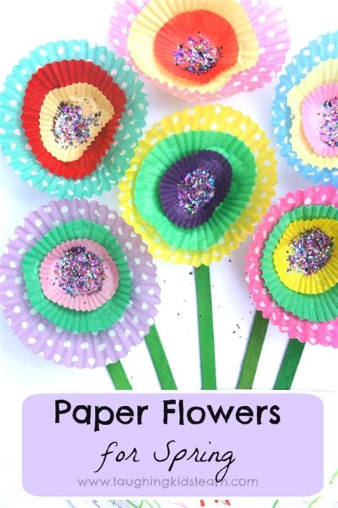 Simple Paper Flowers For Children To Make - cupcake paper flowers crafts and flowers