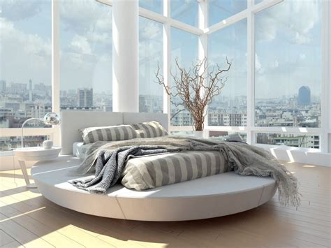circle beds round beds for a more luxurious look of the bedroom