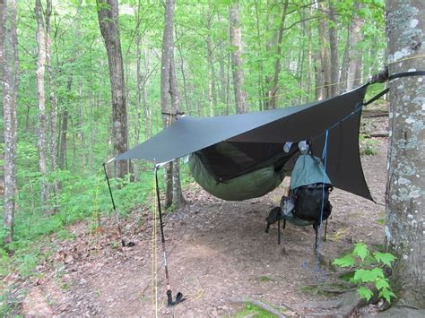 Hamac Trekking by Hammock Setup With Diy Tarp Set Up Cing