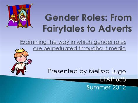 Gender Roles In Tales Research Paper by Gender Roles From Fairytales To Adverts