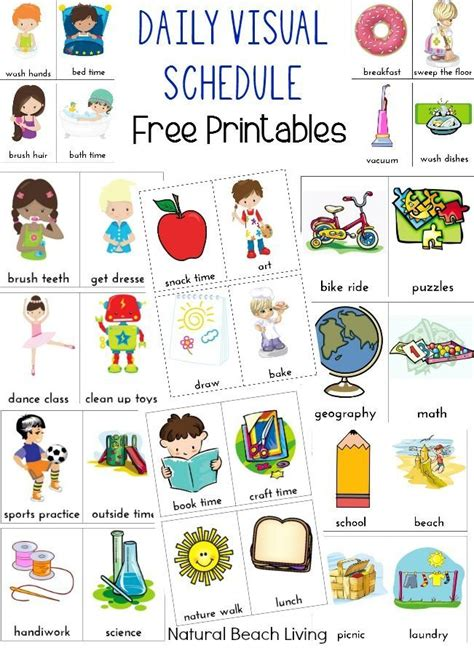visual communication and design worksheets daily visual schedule for kids free printable visual