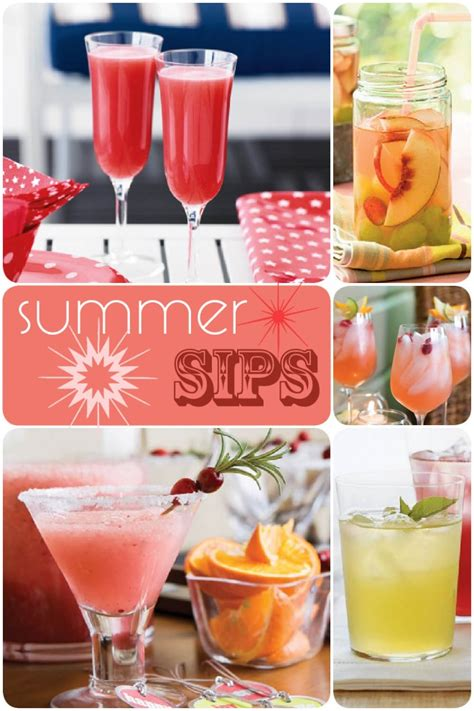 summer cocktail recipes recipes summer sips pizzazzerie