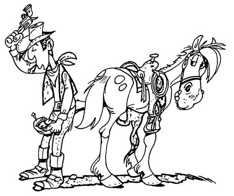 The Lucky Luke by Lucky Luke Coloring Pages Coloring Home