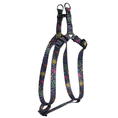 step in harness paisley skulls multi step in harness by yellow design