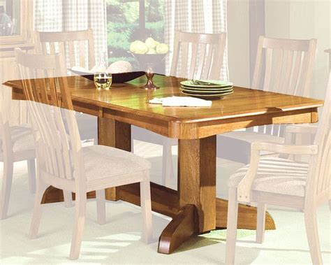 oak park dining table intercon solid oak trestle dining table highland park