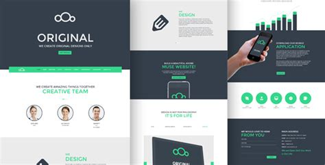 original one page multi purpose muse template by angrypen