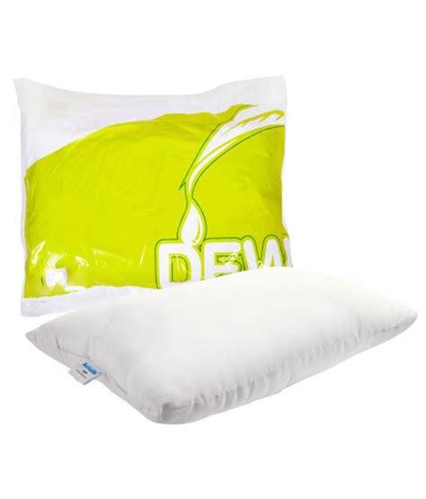 Pillow Price by Kurlon Set Of 2 White Cotton Dew Pillow
