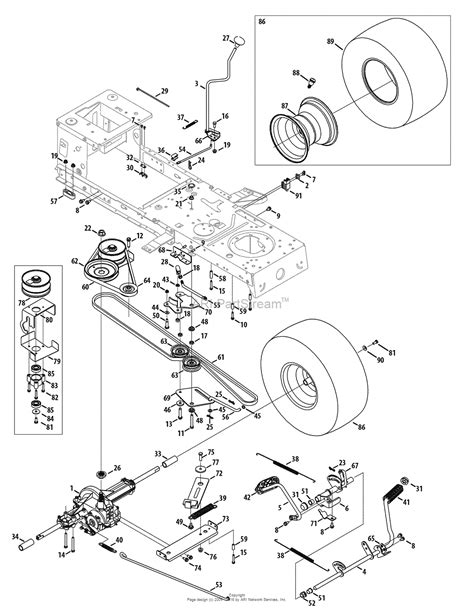troy bilt lawn mower belt diagram troy bilt 13ax78kt066 thouroghbred 2010 parts diagram