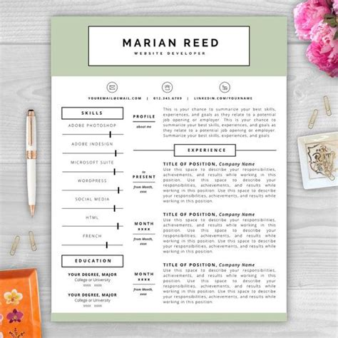 9 Best Monogram Resume Templates Images On Pinterest Resume Templates Cover Letter Template Monogram Resume Template