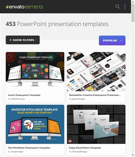 get awesome powerpoint templates from envato elements