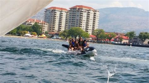 banana boat ride penticton banana boat ride at pier water sports highly recommended