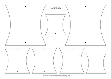 printable paper boat template little handmade party company printables
