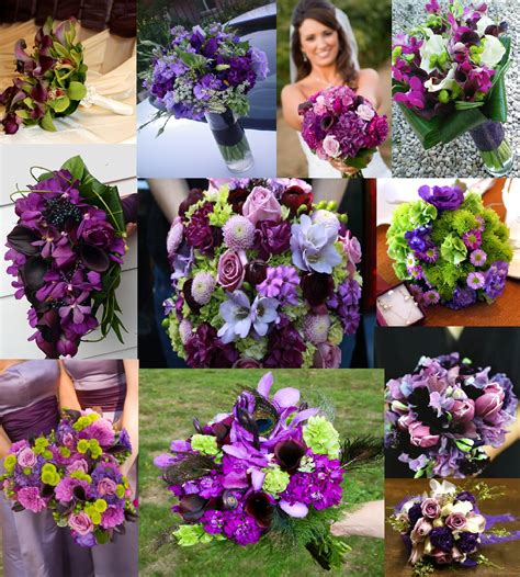Purple Flowers Wedding by Wedding Bouquets Flower Bouquets Wedding