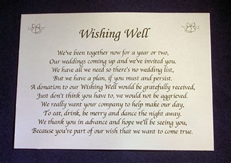 gift poem personalised wishing well money request poem gift cards