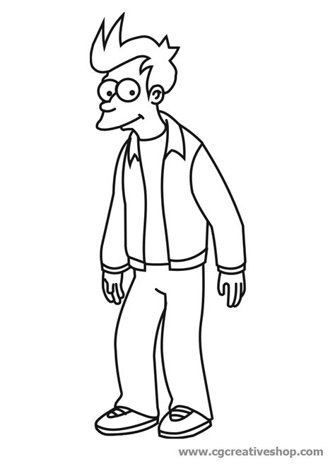 free coloring pages of futurama