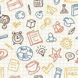 pattern education abstract vector seamless pattern with education icons royalty free