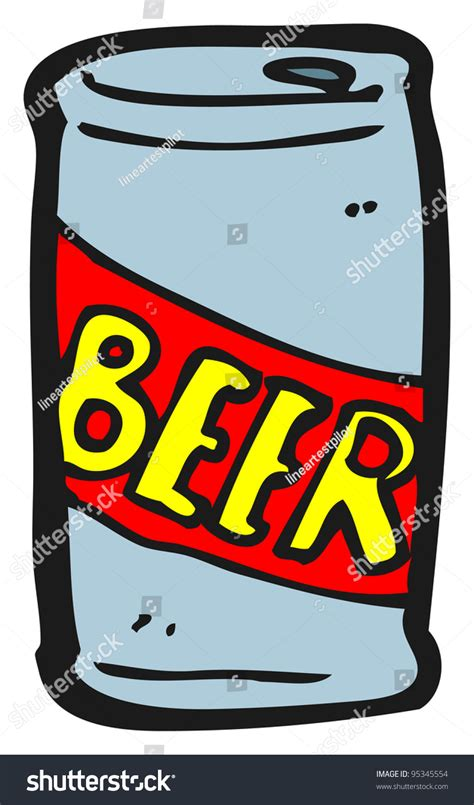 cartoon beer can can beer cartoon stock illustration 95345554 shutterstock
