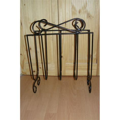 magazine rack storage stand wrought iron