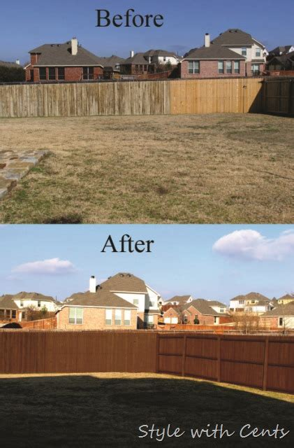 style with cents staining your worn out fence for dirt