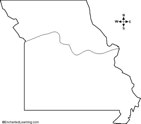 missouri blank map geography missouri outline maps