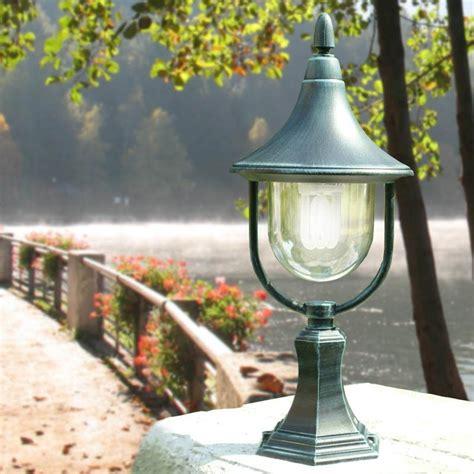 nanetto da giardino venere lanterna paletto da cancello alluminio con vetro da
