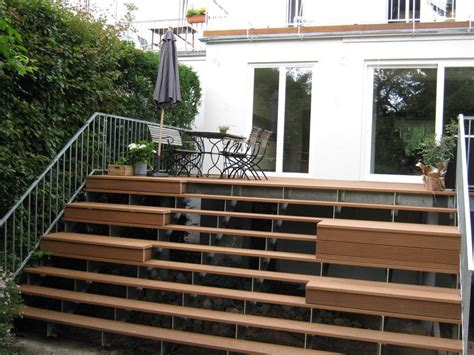 terrasse treppe terrasse mit treppe