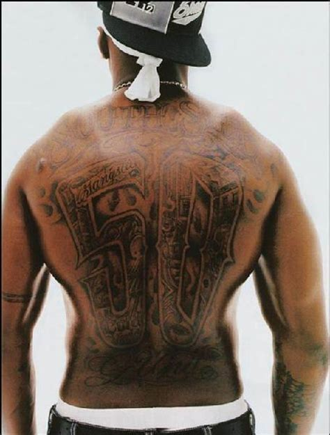 did 50 cent get his back tattoo removed 50 cent tattoos 50 cent