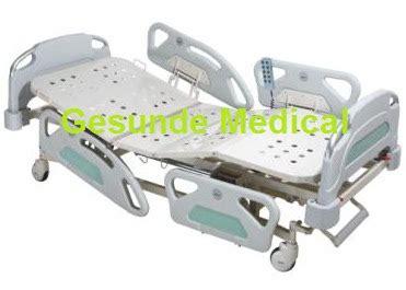 Bed Crank 3 Tempat Tidur Rumah Sakit Electric Tiang Infus Matras tempat tidur rumah sakit elektrik toko medis jual alat