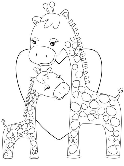 giraffe family coloring pages giraffe coloring pages realistic realistic coloring pages