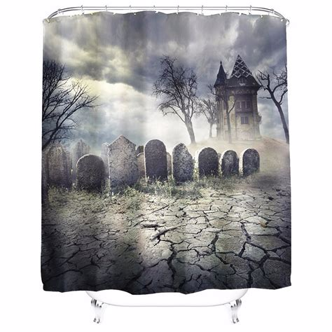 haunted house curtains 180x180cm halloween haunted house polyester shower curtain
