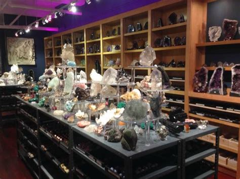 mineral display center of store picture of rock