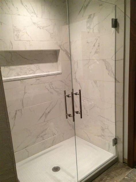 walk  shower replace tub kohler cast iron base