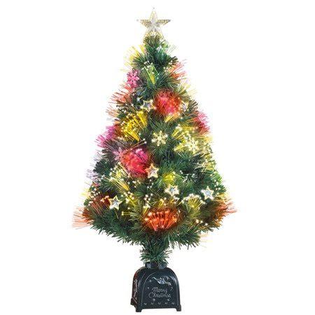 wilkos fiber optic christmas trees rotating fiber optic tabletop tree 36 quot h walmart