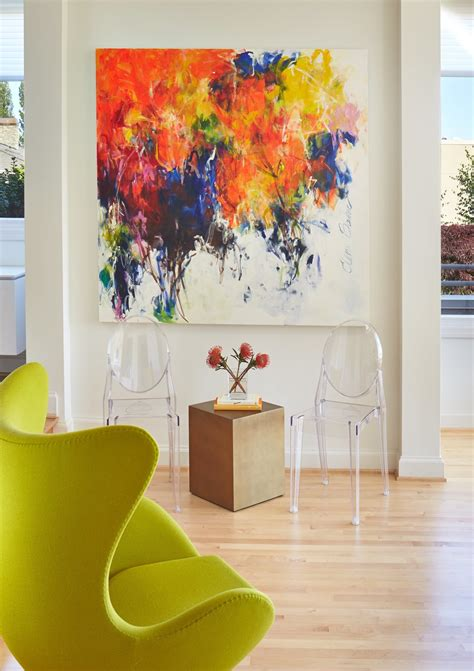 interior painting upturn painting renovation bright bold colors were perfect for a mercer island