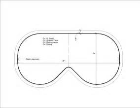 Sleep Mask Template by Sleeping Mask With Pattern Bath And Sewing And