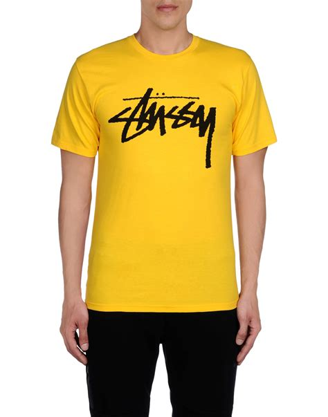 Stussy T Shirt lyst stussy t shirt in yellow for
