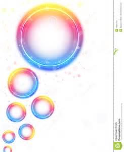 rainbow circle bubbles background stock images image